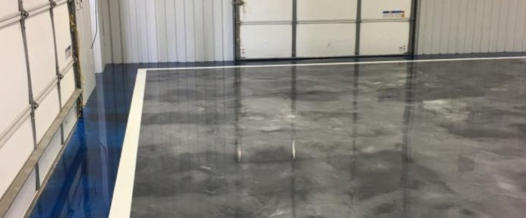 Polished concrete countertop in New Iberia, LA